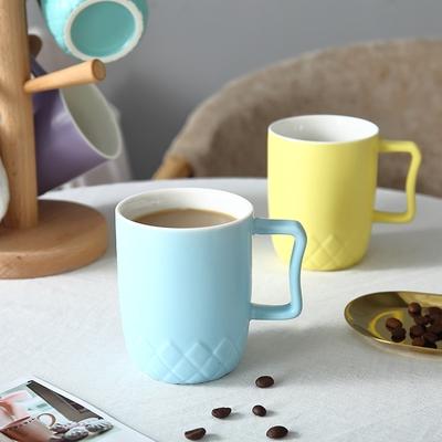 陶瓷杯子创意家用客厅马克杯套装牛奶早餐杯小清新办公茶杯6只装